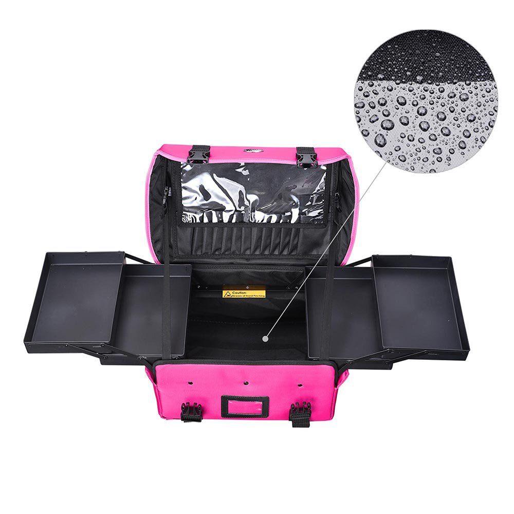 Aw Portable Cosmetic Bag Makeup Carry Case Handbag W 4 Retractable Trays Artist Train Travel Storage Organizer Walmart Com In 2020 Cosmetic Bag Portable Cosmetics Travel Storage