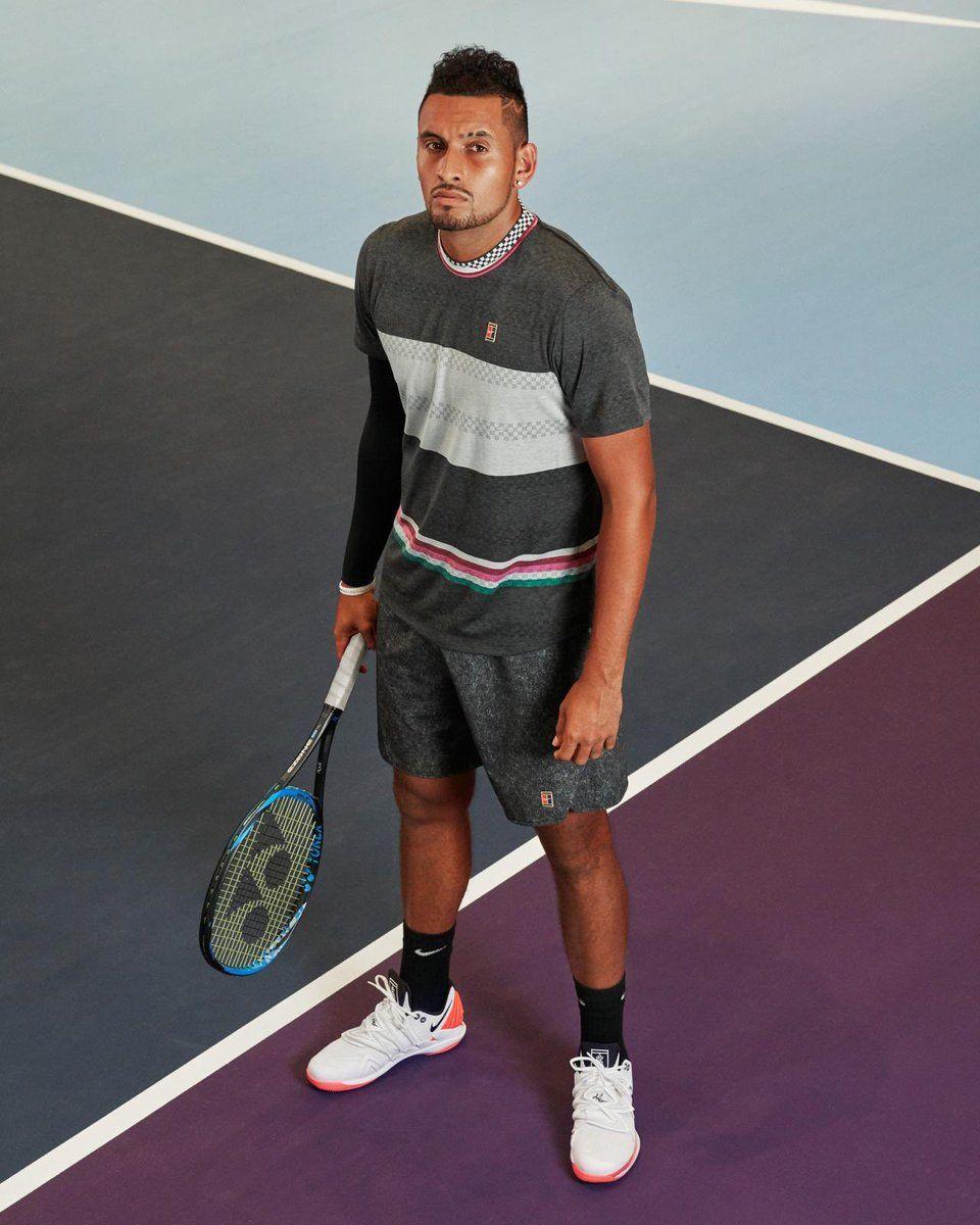 Nick Kyrgios In Australian Open Nick Kyrgios Racquet 2019 Yonex Ezone 98 Racquet Male Tennis Outfit For Tennis Tennis Photos Yonex Tennis Tennis Lessons