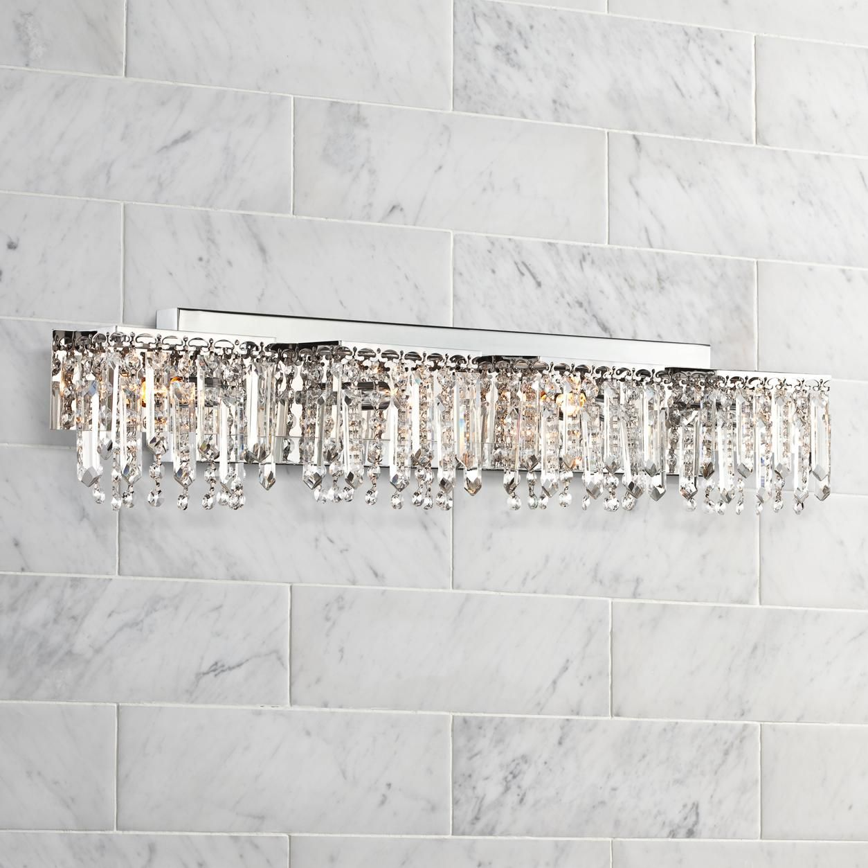 Possini Euro Design Hanging Crystal 33 3/4\