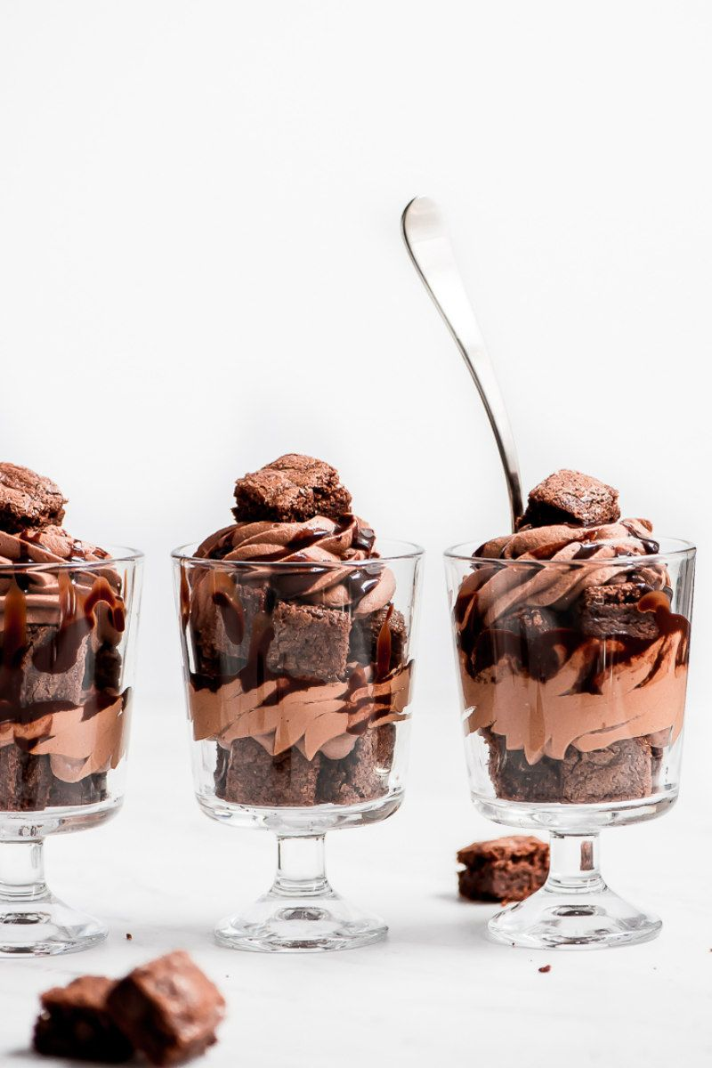 Mini Triple Chocolate Trifles