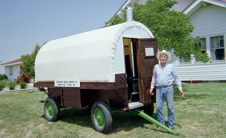Custom Made Sheep Herder Wagons Are Built And Sold By Marvin Richter, Moore  Ranch, Bucklin, Kansas