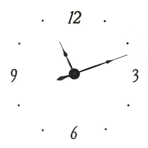 45 Kit40 Extra Large Wall Clock Kit Makes 40 Inch Wall Clock With 4 Metal Numbers 12 3 6 9 Wall Clock Kits Wall Clock Extra Large Wall Clock