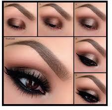 Maquillaje ojos con vestido negro