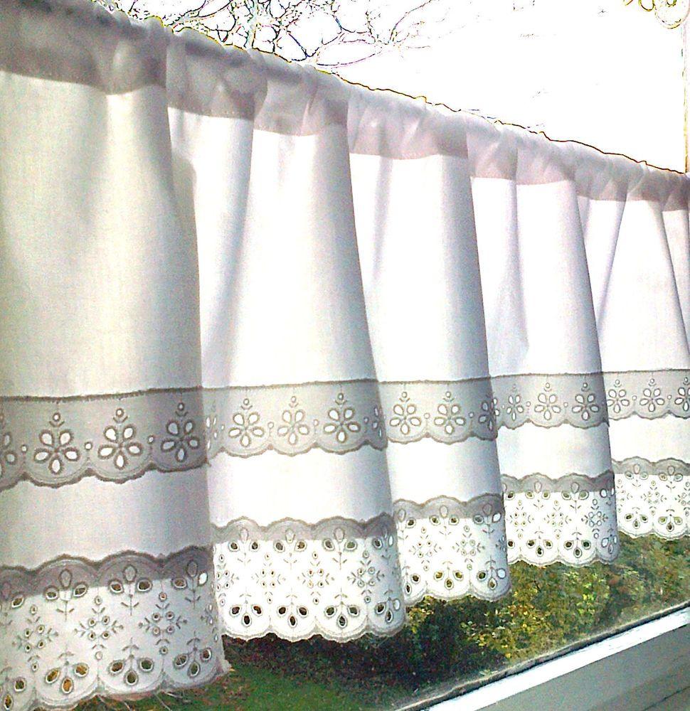 Landhausgardine Scheibengardine Skandinavisch Schlicht Weiss Versch Masse Curtains Cool Curtains Window Curtains