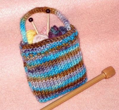 Golden Bird Knits Miniature Knitting Bag Pattern Knitting