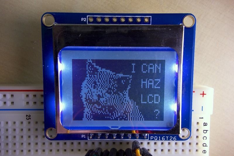 Nokia 5110/3310 LCD Python Library Use a simple graphic LCD with a