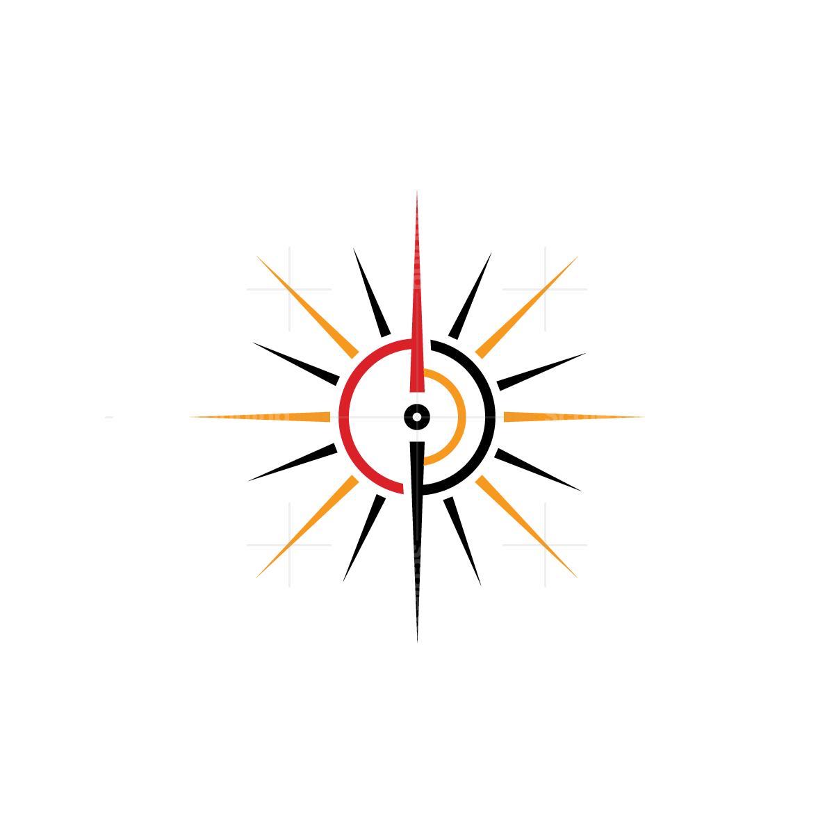 Sun Rays Compass Logo Compass Logo Simple Logo Logo Design
