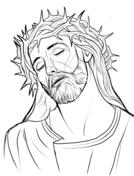 Jesús Con La Corona De Espinas Dibujo Para Colorear Viacrucis