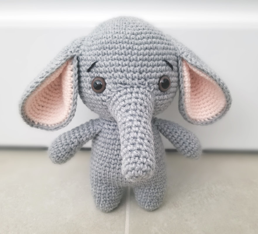 Elton the Elephant Free Crochet Pattern