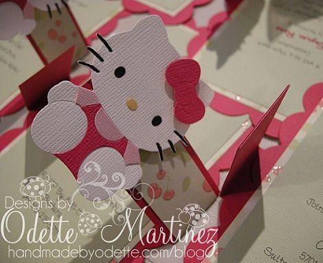 Invitaciones Cumpleanos Hello Kitty Caseras Pestana Ideas