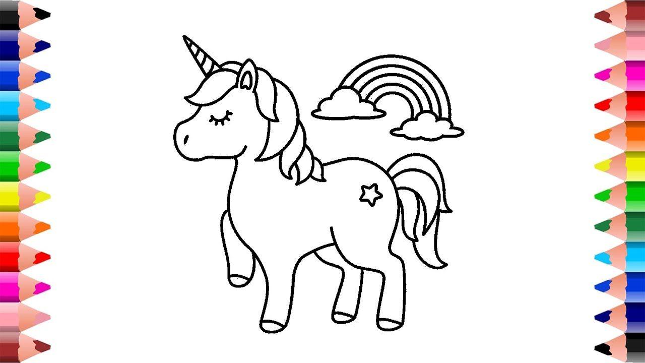 How To Draw Cute Unicorn Unicorn Drawing Easy Unicorn Coloring Page Unicorn Coloring Pages Unicorn Drawing Cute Drawings