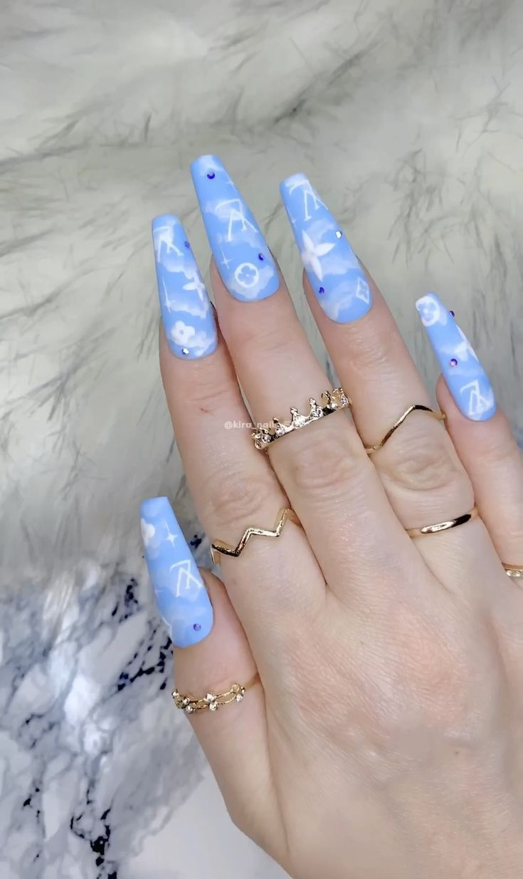 LV Cloud Bitch Fake Nails by Kira B