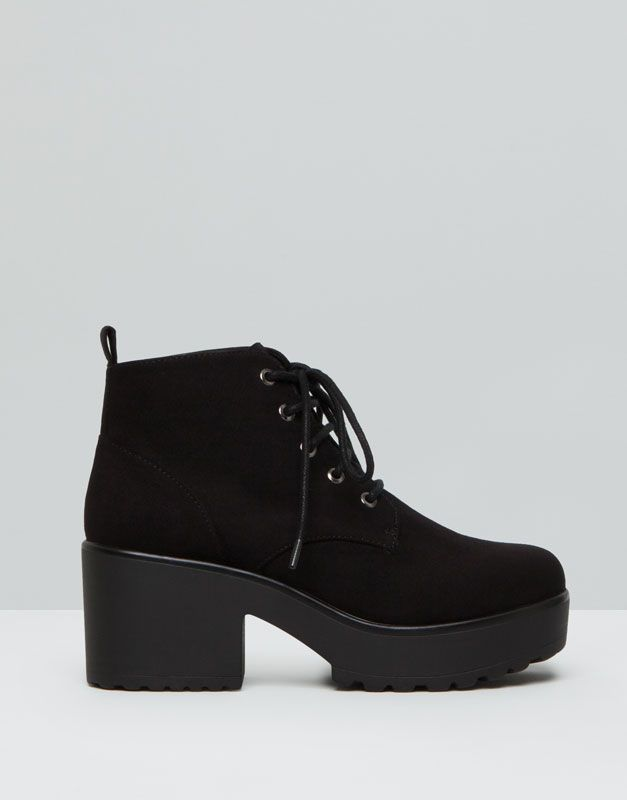aa99120db0a Pull&Bear - woman - women's footwear - high heel ankle boots with zip -  black - 15265011-I2015