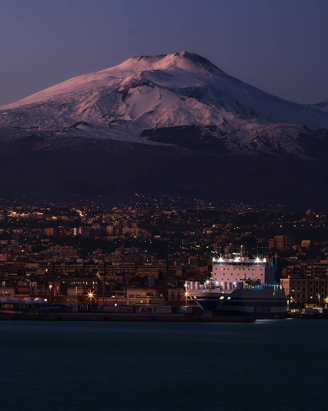 "Mount Etna, Sicily, Italy. Erupting On Christmas Eve 2020 Gianluca Musmeci | Photography on Instagram: ""🇮🇹 Etna al"