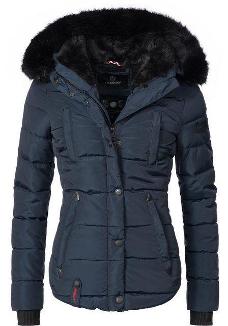 Damen Warme Gefüttert Kapuzenjacke Winter Jacke Stepp Parka Mantel Winterjacke