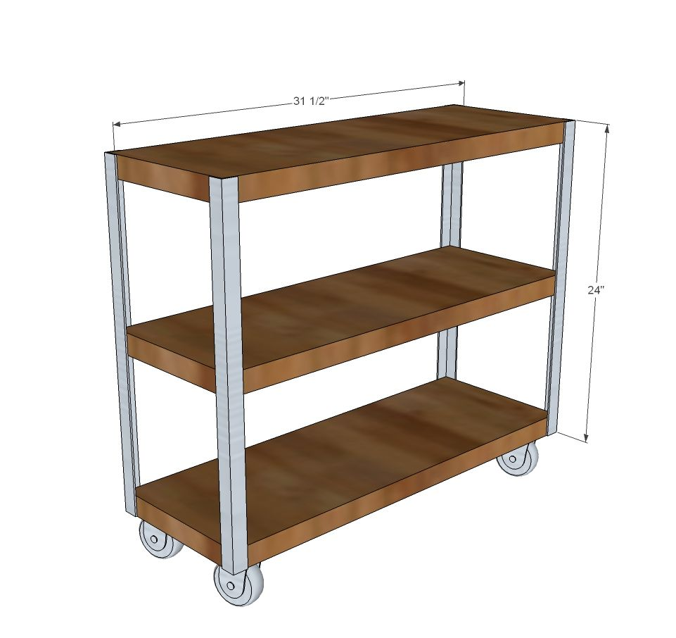 Captivating Easy Bookcase Or Kitchen Cart