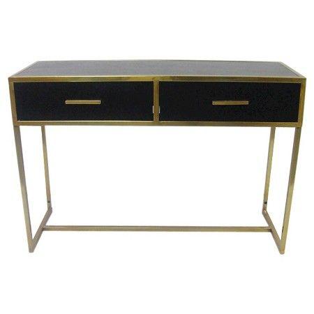 Black Gold Console Table Nate Berkus Target great decor