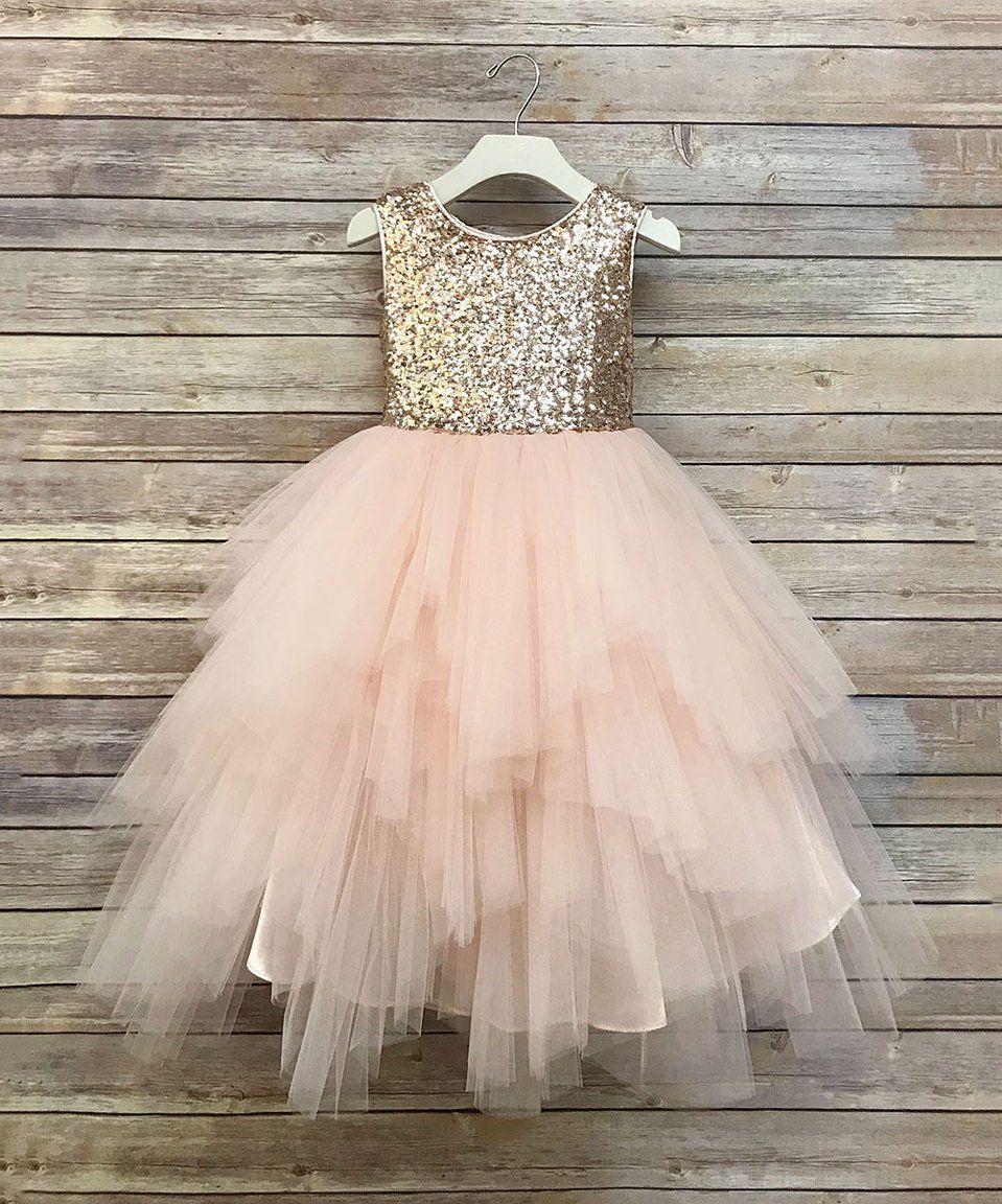 d76dc846bfe Blush Pink Sequin Flower Girl Dress | Huston Fislar Photography