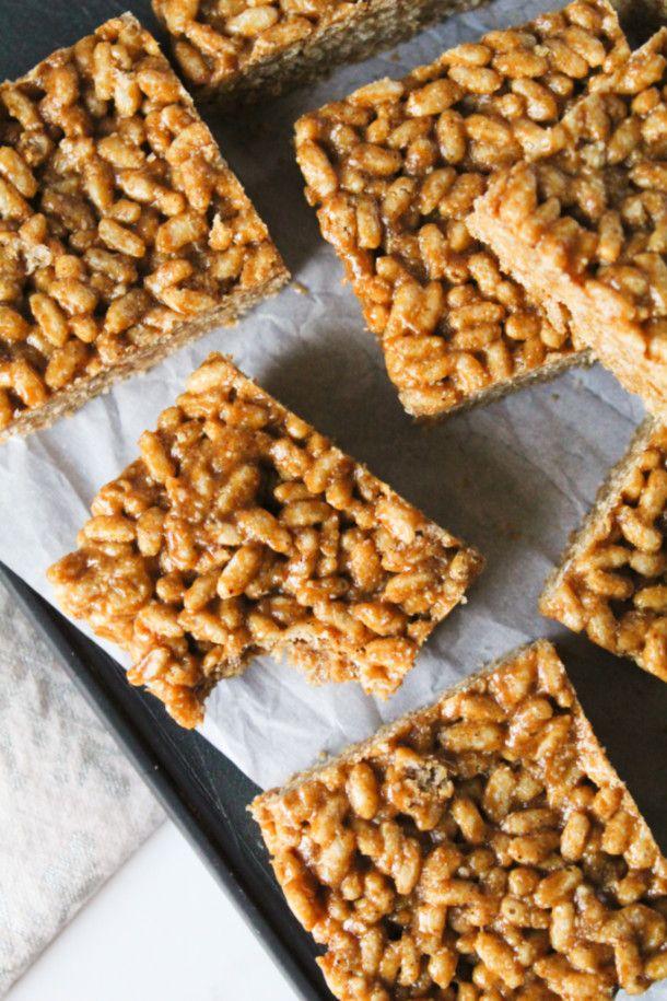 Gingerbread Rice Krispie Treats (glutenfree, refined