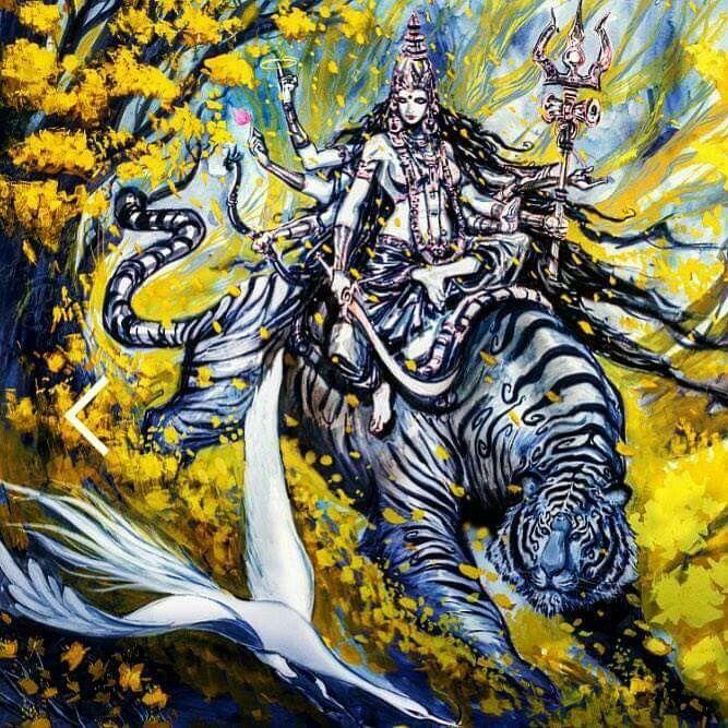 Shakti Durga goddess, Symbols of strength, Lion images