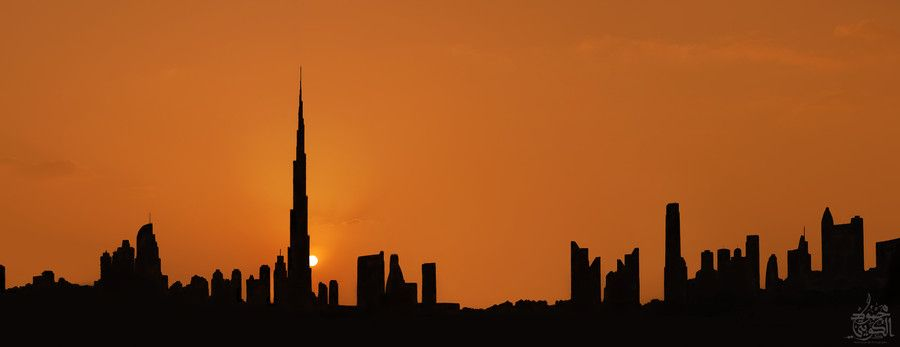 Dubai sunset by Mahmoud Alqallaf