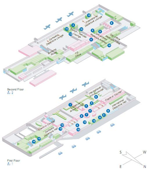 Terminal Map Hat Yai Airport Guide Hdy Songkhla Thailand Map Airport Map Wayfinding Design