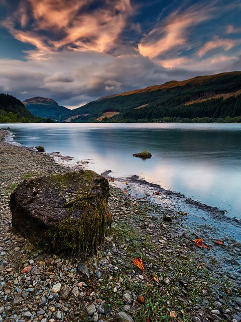 Sunset Over Loch Lubnaig in The Trossachs near Callander, Scotland @Megan Ward Ward Ward Ward Lally