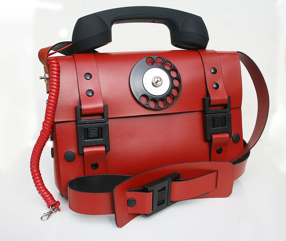 unusual items | ... bag for women in pink color with telephone ...