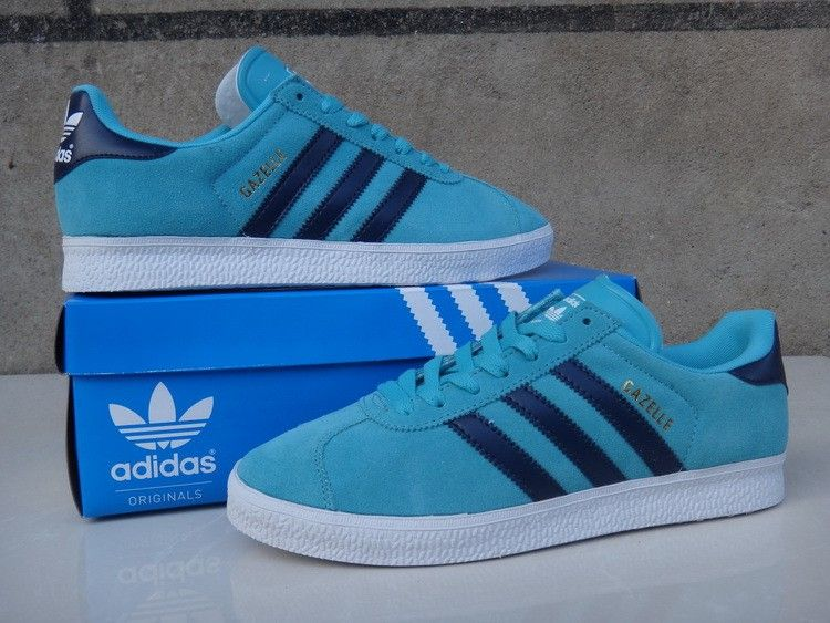 adidas gazelle blue and black