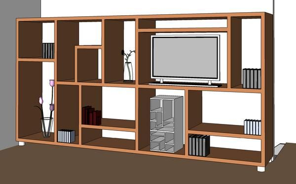 Object Modern Modern Tv Cabinet Revit Models Download Revit Revit