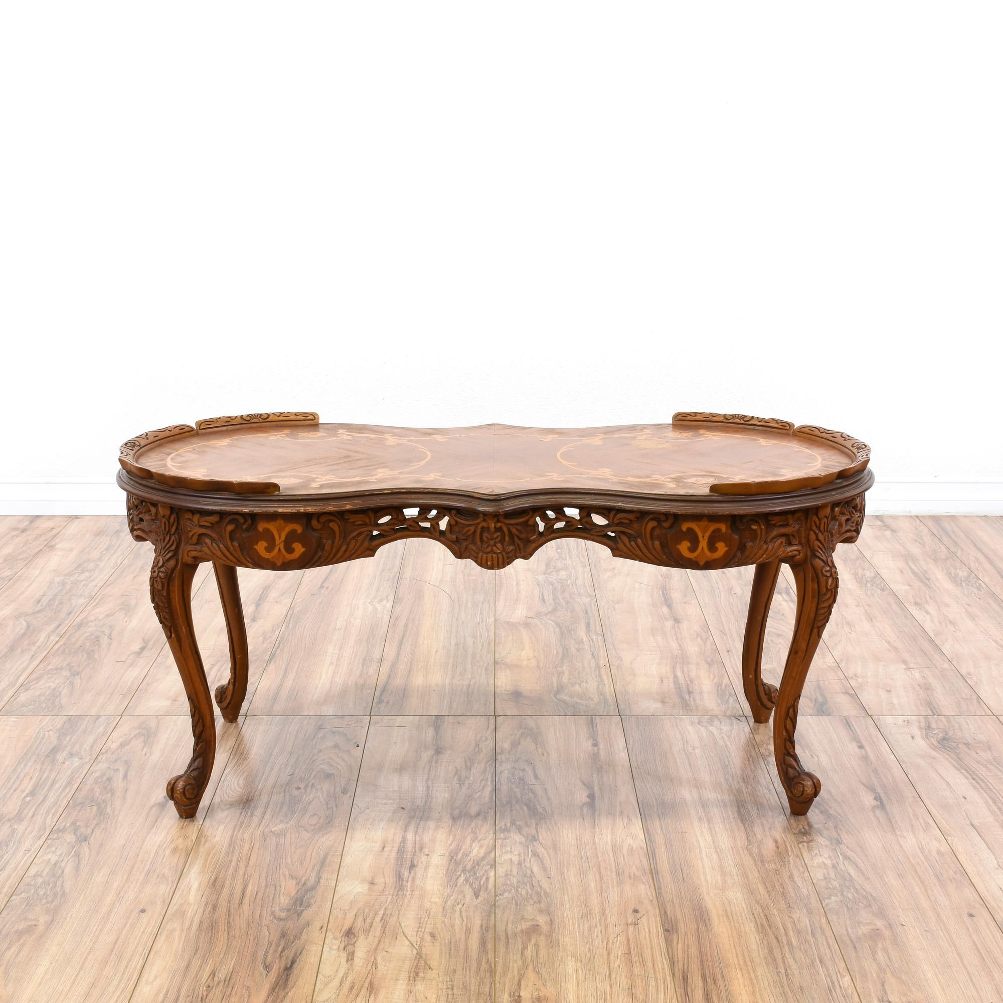 This Victorian Coffee Table Is Featured In A Solid Wood