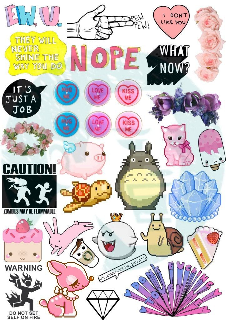 Set 35 tumblr stickers stickers set of stickers - Decorazioni tumblr ...