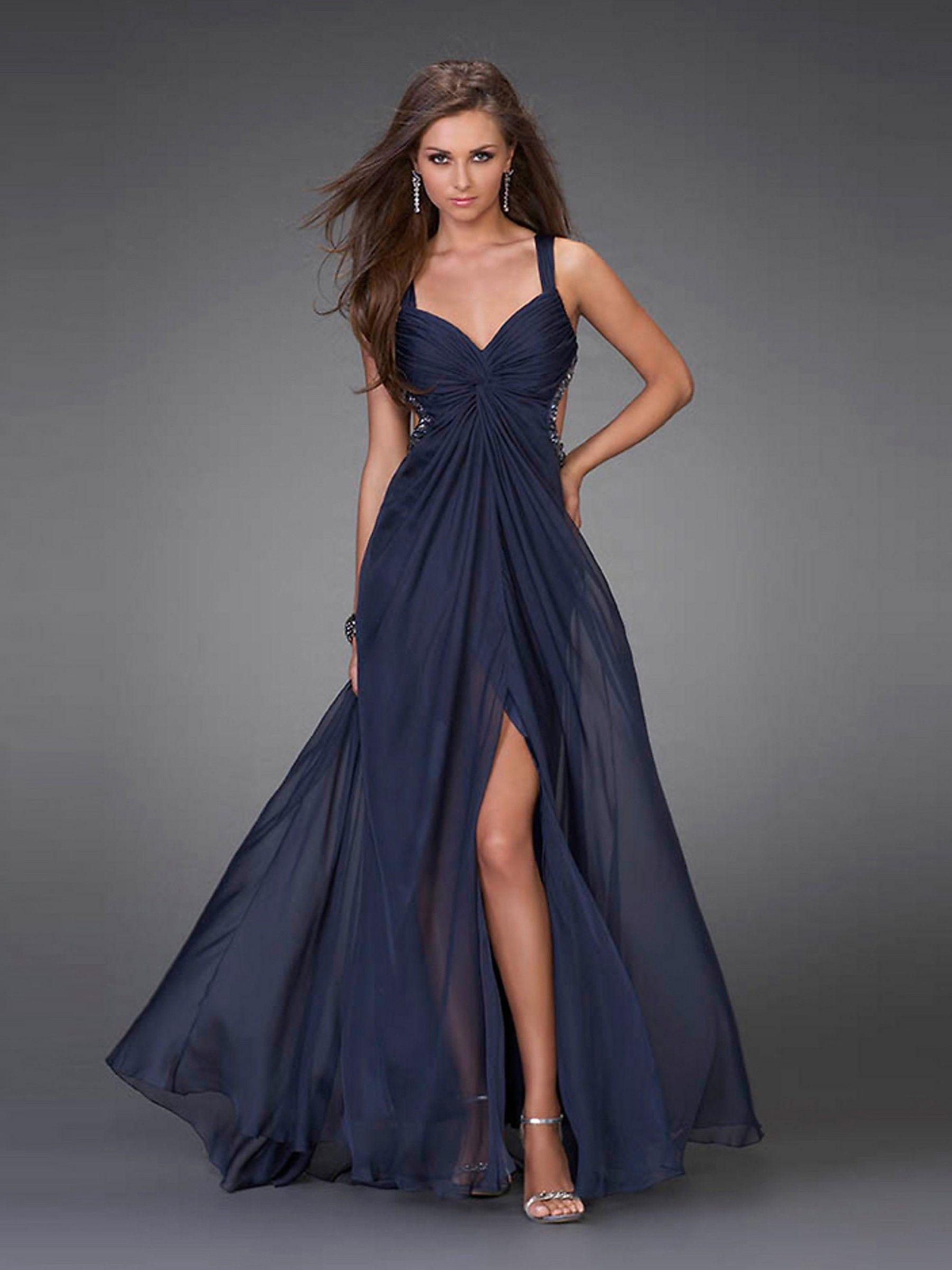 Glamorous Halter Neckline Prom Dress of Side Cut-Outs   Fancy ...