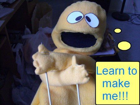 How to make a moving mouth puppet with arm rods (Mac and Cheese ...