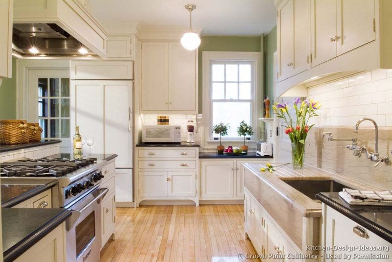 Pictures Of Kitchens With White Cabinets And Black Countertops Of Kitchens Wood Floor