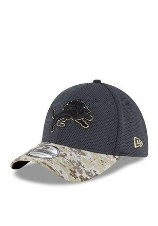 df8f5b43b64 New Era Detroit Lions Mens Green 2016 STS 39THIRTY Flex Hat ...
