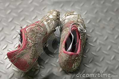 Dirty football  boots - love Sunday morning games