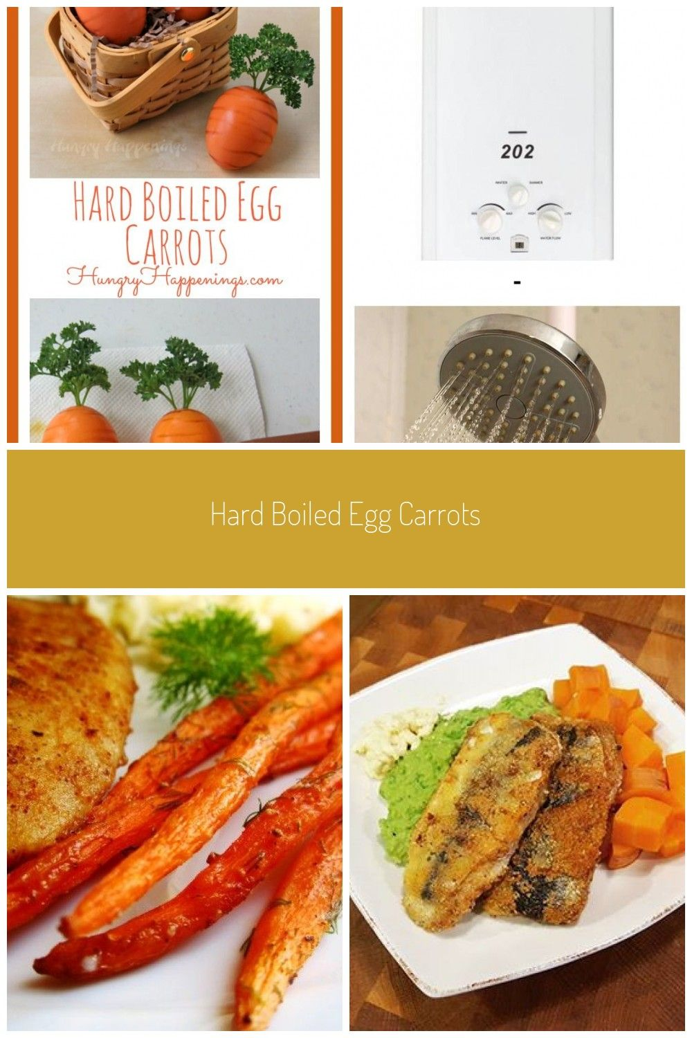 Here's another fun way to serve hard boiled eggs for Easter. These Hard Boiled Egg Carrots are fun and super easy to make. #boiled carrot Hard Boiled Egg Carrots #hardboiledeggs