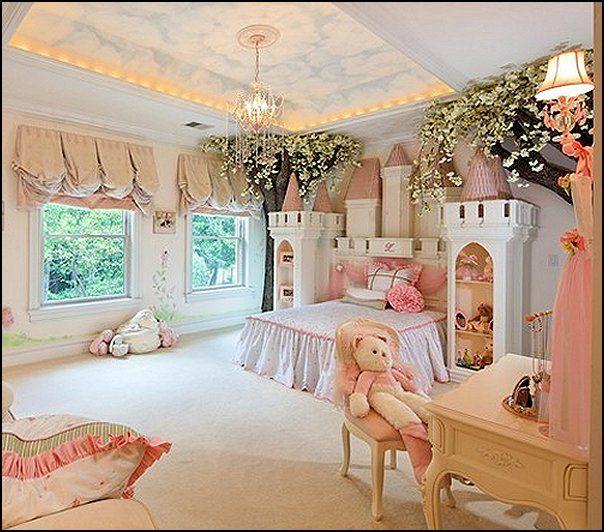 Princess Inspired Room Decor | ... Princess Theme Bedroom Ideas   Princess  Bed