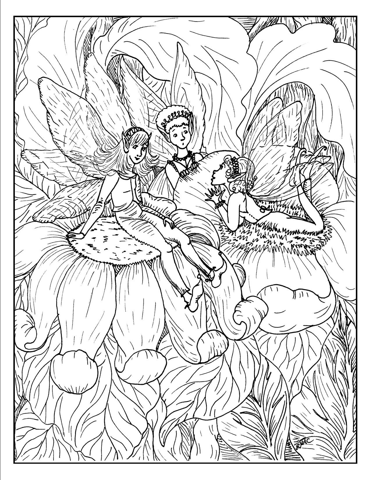 chatty fairies fantasy coloring pages smacs place to be