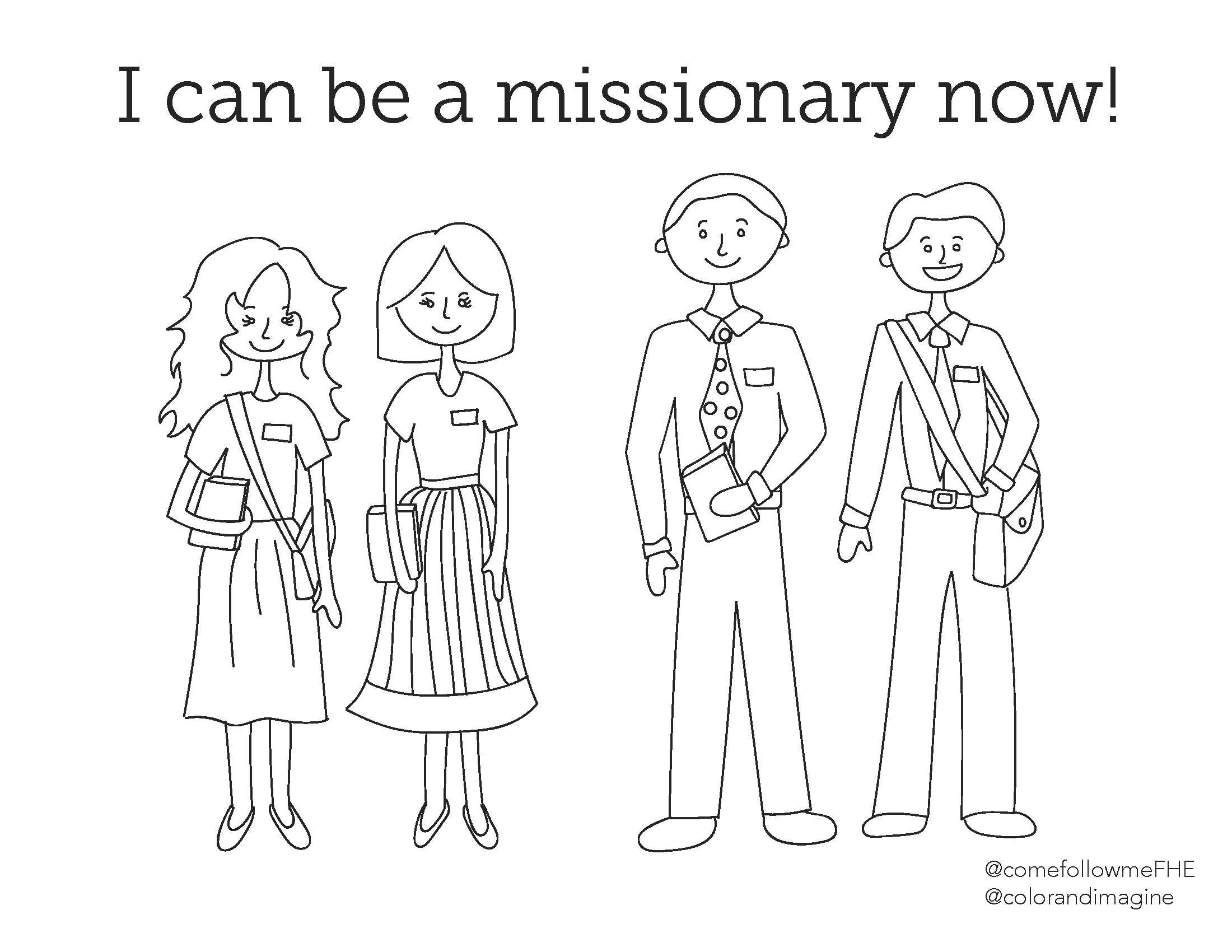 July 22 28 Come Follow Me Lesson For Kids The Lord Had Called Us For To Preach The Gospel Come Follow Me Fhe Lds Fhe Lessons Lds Coloring Pages Coloring Pages