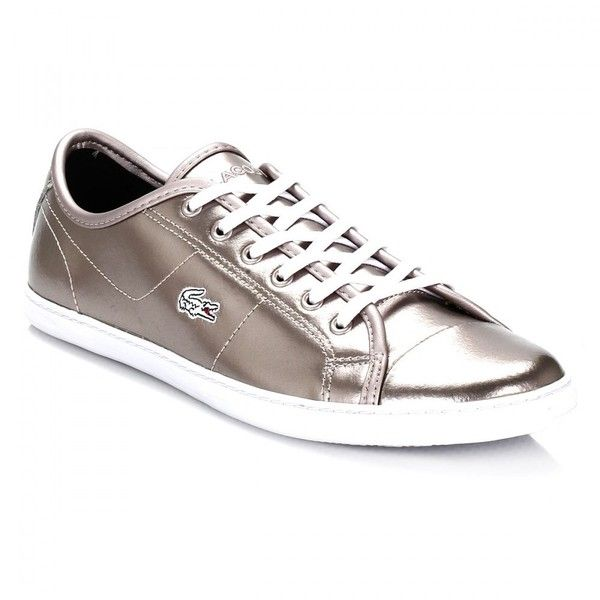 best cheap 95e7c 86206 Lacoste Womens Gold Metallic Ziane PRC Trainers (840 ARS) ❤ liked on  Polyvore featuring shoes, sneakers, lacoste footwear, lacoste sneakers,  lacoste, ...