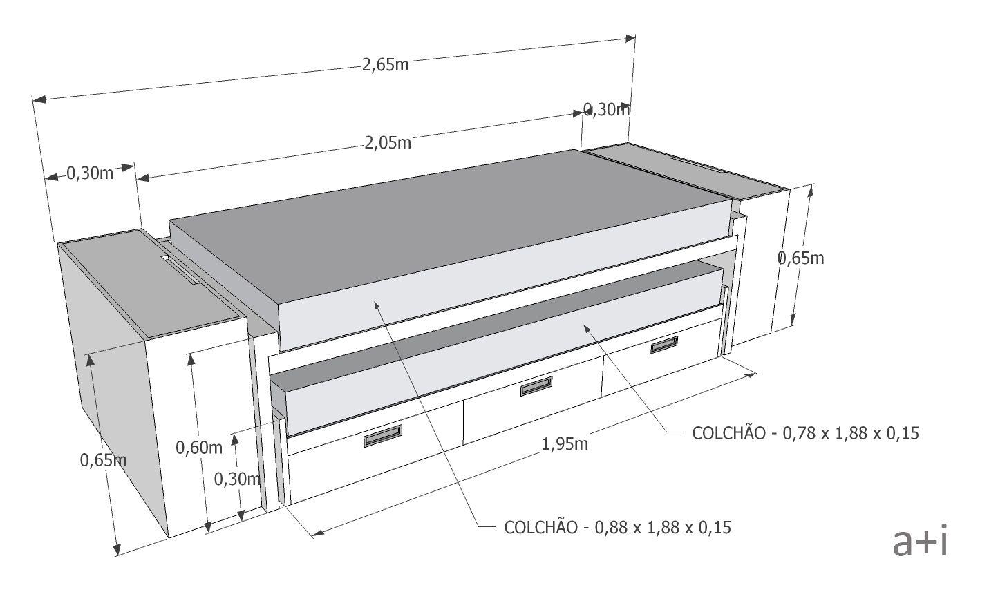 Resultado de imagem para bicama com gaveta espacios for Cama divan nina