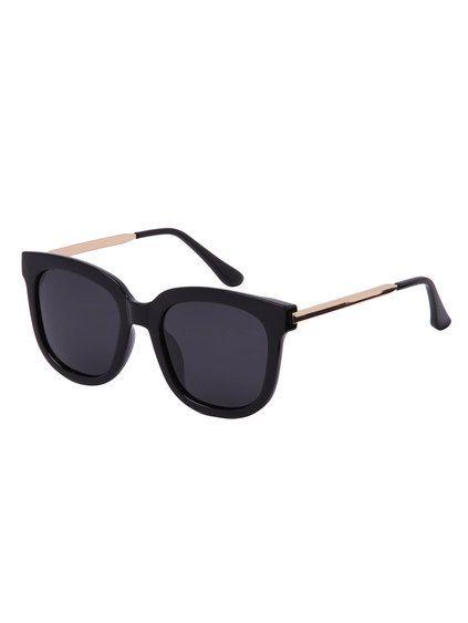 Gafas de sol lentes negro talla grande cuadrado  30944a233452