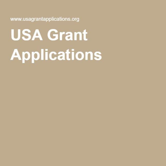 Usa Grant Applications  Grant Application