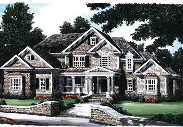Wilshire Place Frank Betz Two Staircases Curved Front Staircase Downstairs Master Country Style House Plans Southern House Plans Craftsman House Plans