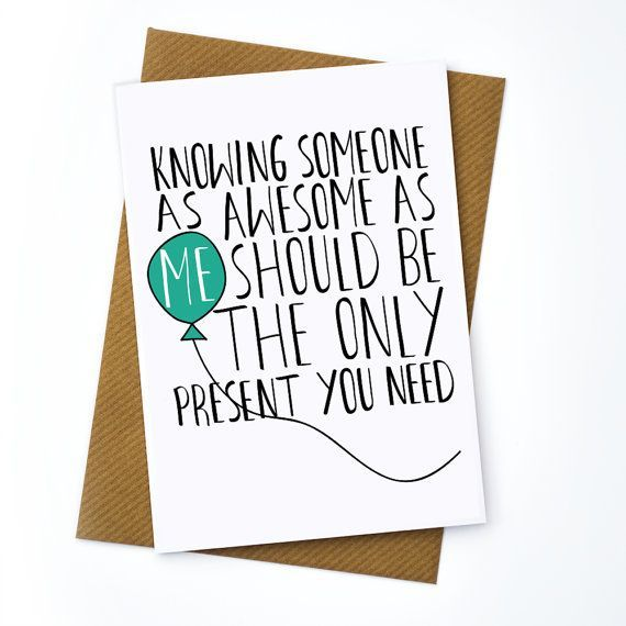 Funny Birthday Card Old Greetings Friend Brother Sister Mum Mother Dad Happy Celebration Getting Awesome Present