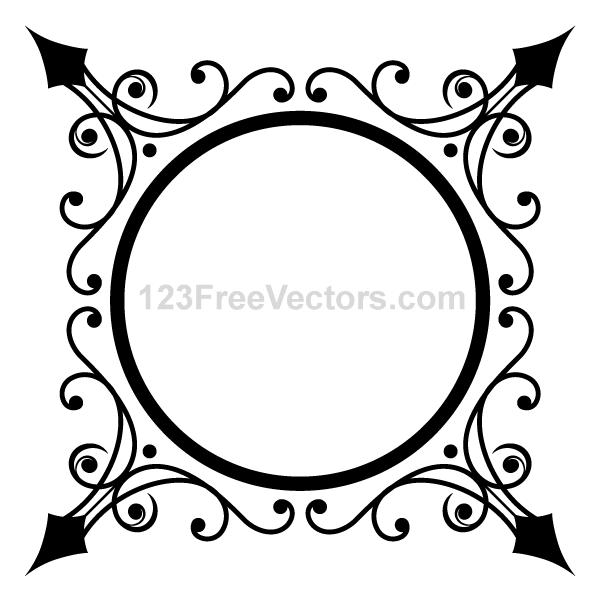 Circle Ornate Frame Vector Graphics | Free Vectors | Vector free ...