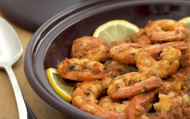 Spicy Moroccan Shrimp Tagine