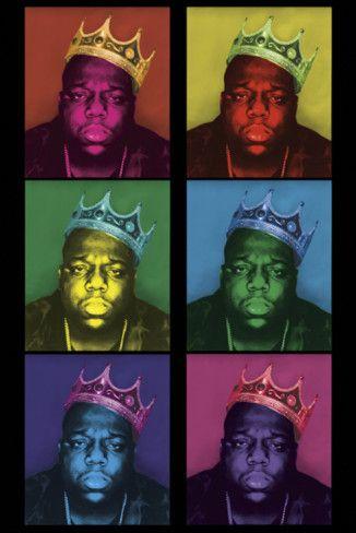 notorious big pop art king posters